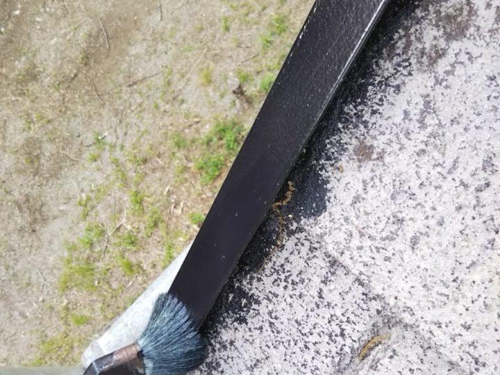 屋根 棟板金上塗り
