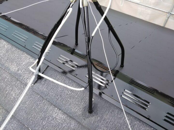 テレビアンテナ脚部塗装