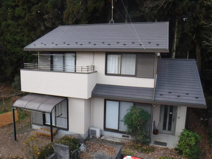【那須塩原市】I様邸 屋根重ね葺き外壁他塗装工事