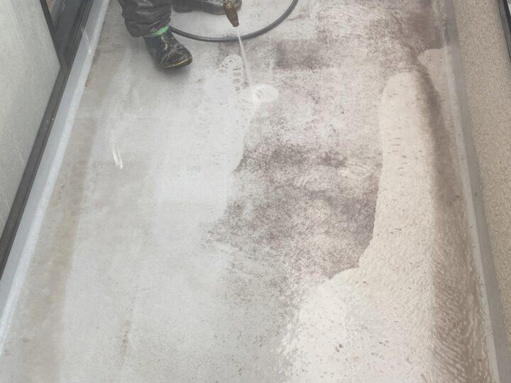 バルコニー 高圧水洗浄