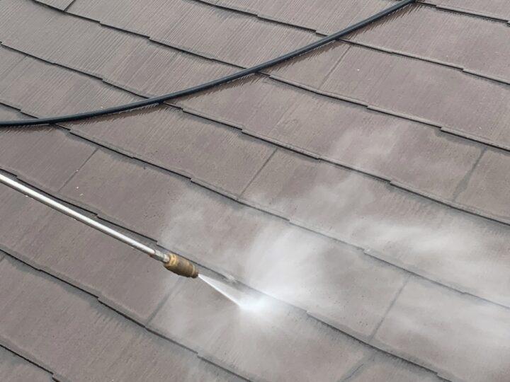 屋根 高圧水洗浄