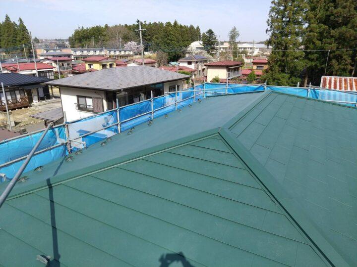 屋根 カバー 完了