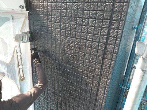 外壁工事 上塗り