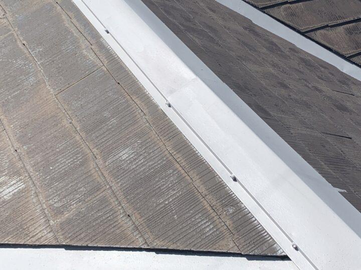 屋根 錆止め塗布完了