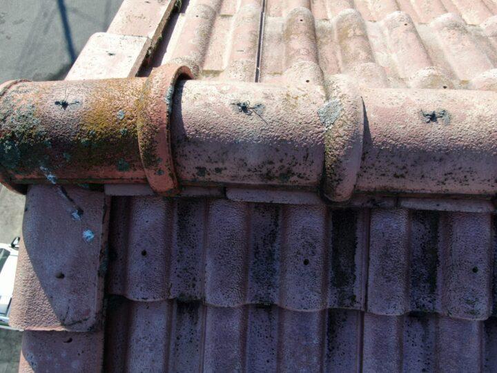 屋根 棟瓦のずれ