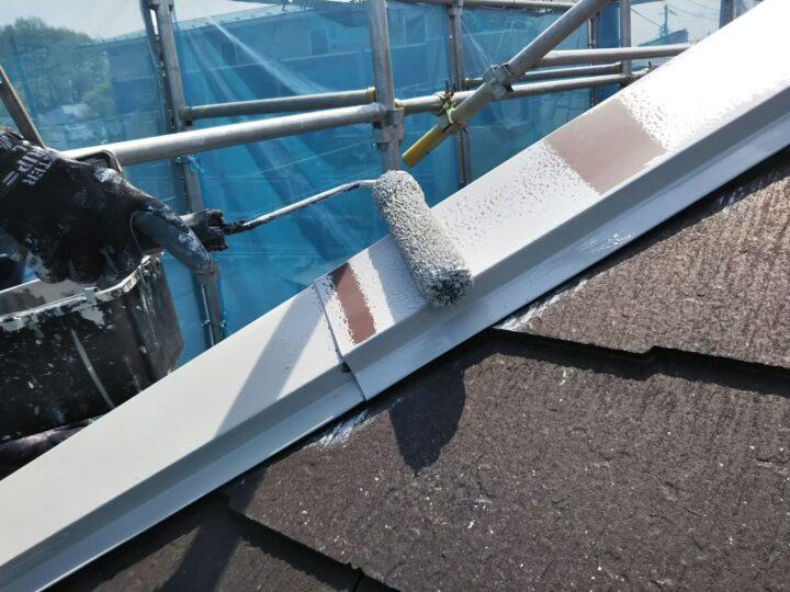 屋根 板金部錆止め塗布