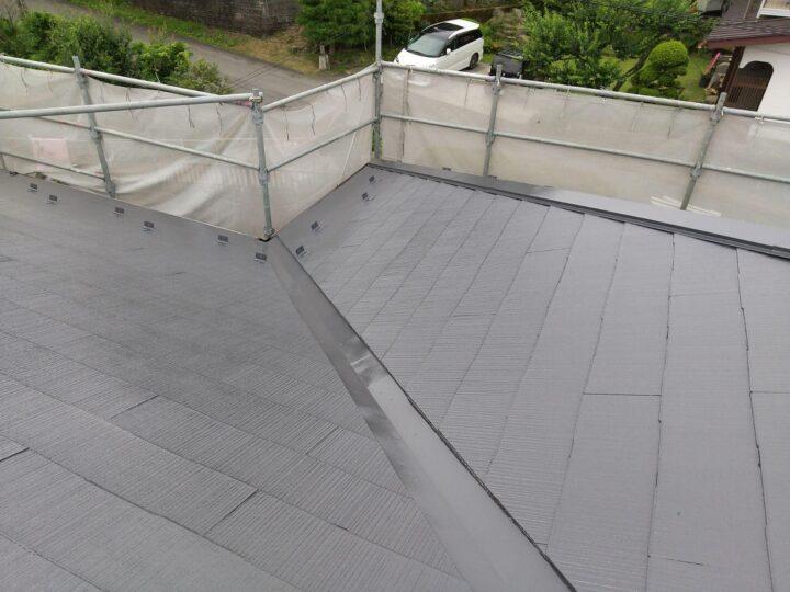 屋根 上塗完了