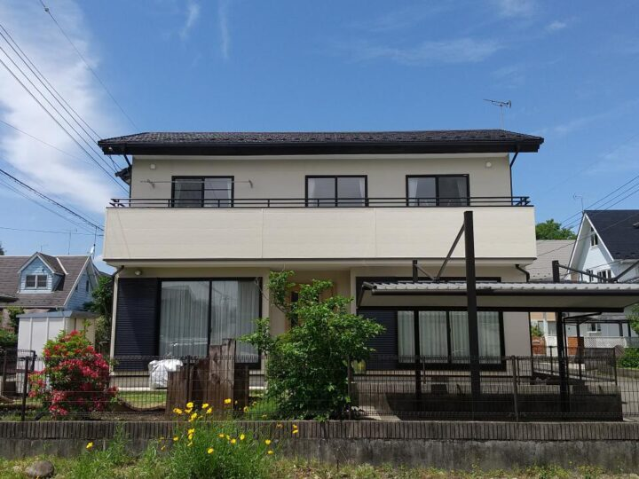 【那須塩原市】S様邸 屋根塗装・外壁張替え・ベランダ防水工事