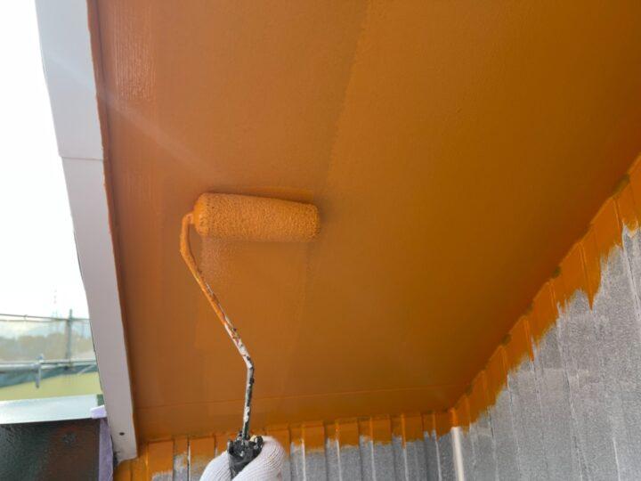 軒天 塗装2回目